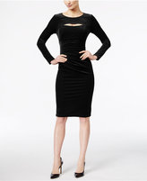 INC International Concepts Cutout Velvet Sheath Dress, Only at Macy's