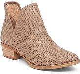 Lucky Brand Bashina Nubuck Leather Stacked Heel Booties