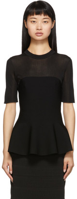 Proenza Schouler Black Band Knit T-Shirt