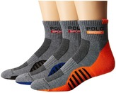 Polo Ralph Lauren 3-pack Racing Stripe Sole Contrast 1/4 Socks