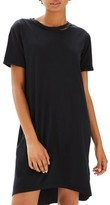 Topshop Women's Split Neck T-Shirt Dress