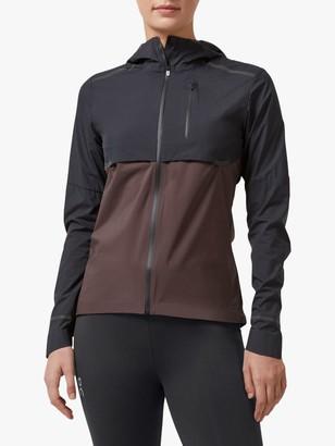 On Weather Water Resistant Women's Running Jacket, Black/Pebble