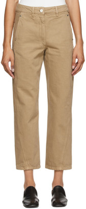 Lemaire Beige Twisted Jeans