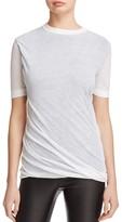 DKNY Pure Reversible Short Sleeve Crewneck Sweater