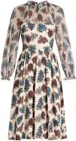 Luisa Beccaria Floral-print crepon dress