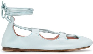 Lanvin Tie Ankle Ballerina Shoes