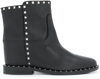Via Roma 15 Studded Ankle Boot