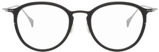 Yohji Yamamoto Black and Silver Round Glasses