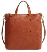 Madewell Mini Transport Perforated Leather Crossbody Bag - Brown