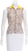 Christian Dior Sleeveless Lace Top