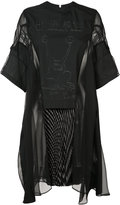 Sacai sheer panel dress - women - Cotton/Polyester - 2