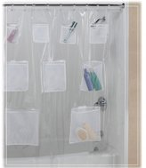 Creative Bath Products Pockets Clear Vinyl Shower Curtain 70 X 72