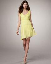 Vera Wang Lavender Seam-Detail Dress