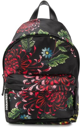 DSQUARED2 Floral-Print Backpack