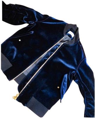Sandro Spring Summer 2020 Navy Velvet Leather jackets