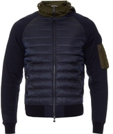 Moncler Nylon And Jersey Hooded Jacket