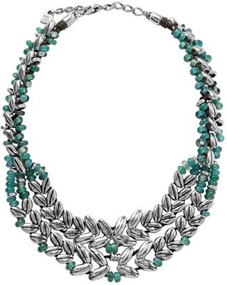 Uno de 50 Twilight Wheat Design Beaded Collar Necklace