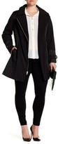 Via Spiga Zip Detail Belted Coat (Plus Size)