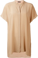 Roberto Collina mandarin neck shortsleeved shirt - women - Silk - S
