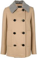 Proenza Schouler contrasting collar jacket - women - Polyamide/Polyester/Viscose/Virgin Wool - 2