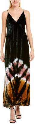 Young Fabulous & Broke Velvet Silk-Blend Maxi Dress