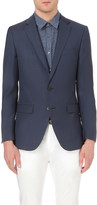 HUGO BOSS Regular-fit elbow patch wool jacket