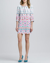 Yoana Baraschi Printed Beaded Shift Dress