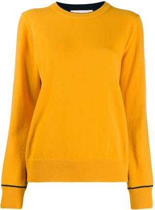 Tory Burch cashmere embroidered logo pullover