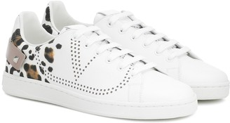 Valentino Exclusive to Mytheresa Garavani BACKNET leather sneakers