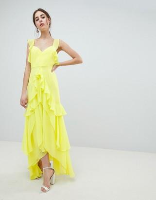 Asos Design DESIGN ruffle maxi dress