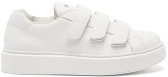 Prada Street 80 Velcro-strap Leather Trainers - White