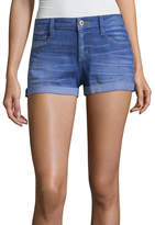 Arizona 2 1/2 inch Roll Cuff Denim Shorts-Juniors