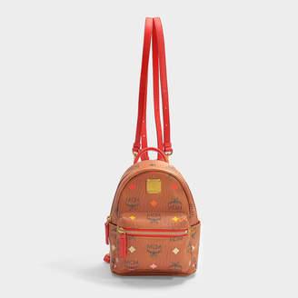 MCM Stark Spektrum Visetos Backpack 20 In Spectrum Diamond Cognac Synthetic Fabric