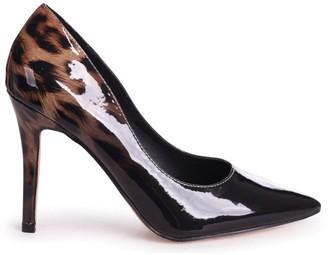 Linzi DYNAMIC - Black and Leopard Print Ombre Effect Stiletto Court Heel
