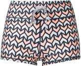 The Upside geometric print running shorts - women - Nylon - XXS