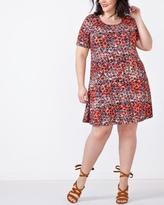 Penningtons Short Sleeve Printed Swing Dress