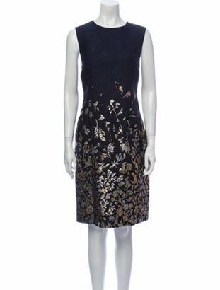 Oscar de la Renta 2017 Knee-Length Dress w/ Tags Blue