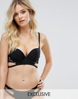 Wolfwhistle Wolf & Whistle Plunge Macrame Lace Up Bikini Top B-G Cup