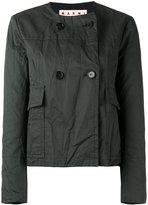Marni cropped collarless jacket - women - Cotton/Linen/Flax/Acetate/Viscose - 46