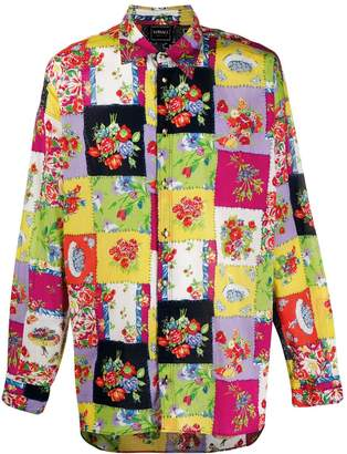 Versace Pre-Owned 1990s patchwork floral shirt