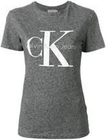 CK Calvin Klein logo print shrunken effect T-shirt