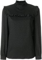 A.P.C. frill bib blouse