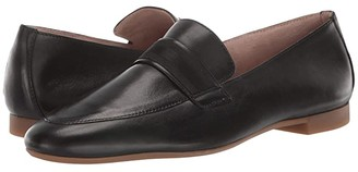 Paul Green Adelle Flat (Black Leather) Women's Shoes