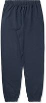 Sunspel Navy Melange Track Pants