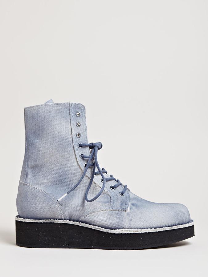Yohji Yamamoto Men's Canvas Platform Boots