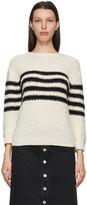 A.P.C. Off-White & Black Luzia Sailor Sweater