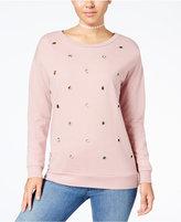 Ultra Flirt Juniors' Grommet-Detail Sweatshirt