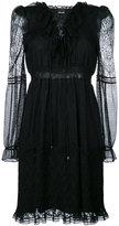 Just Cavalli layered mesh dress