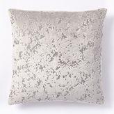 west elm Jacquard Velvet Distressed Pillow Cover - Platinum