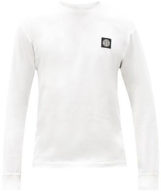 Stone Island Logo-patch Long-sleeved Cotton T-shirt - White